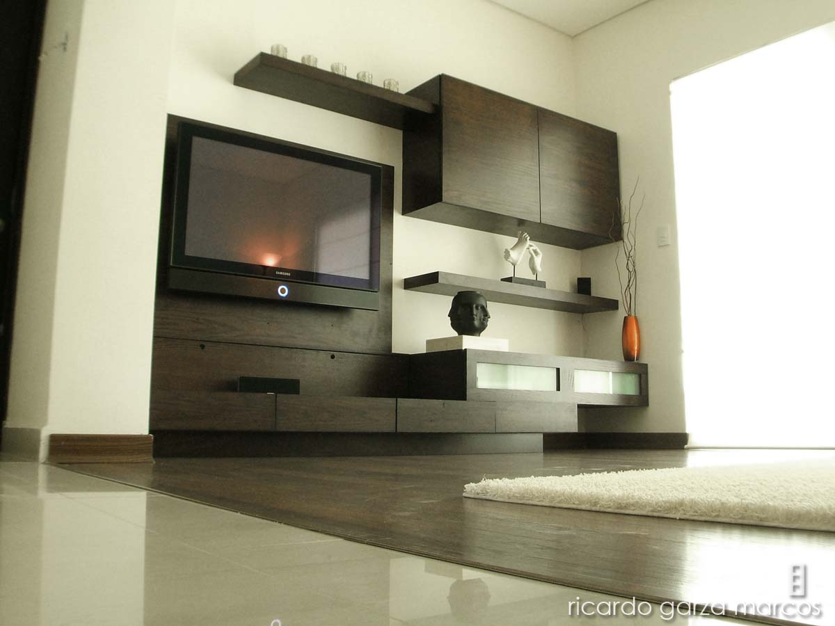 Decora y disena muebles de tv para salas - Decoracion mueble tv ...